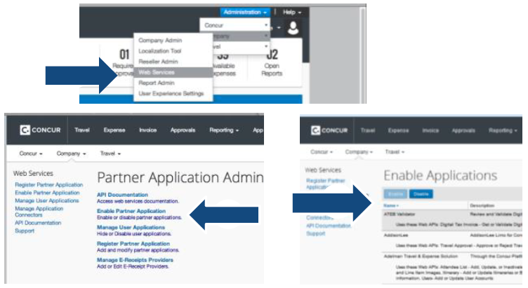 SAP Concur Developer Center | Enabling and Disabling Apps from the